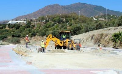 Las obras de urbanización de La Lobilla superan su ecuador